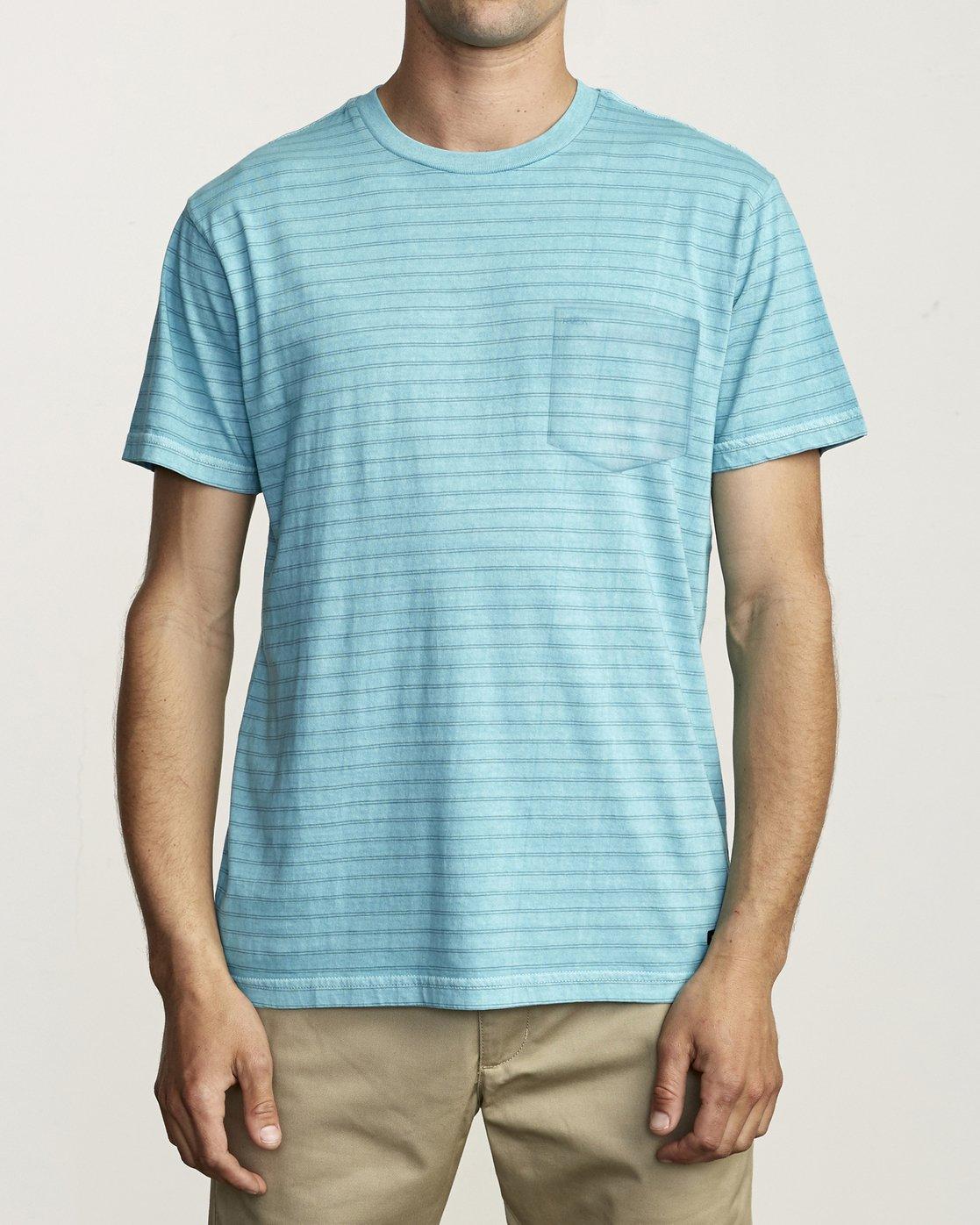 1 Ptc Stripe - Striped T-Shirt for Men  S1KTRERVP0 RVCA