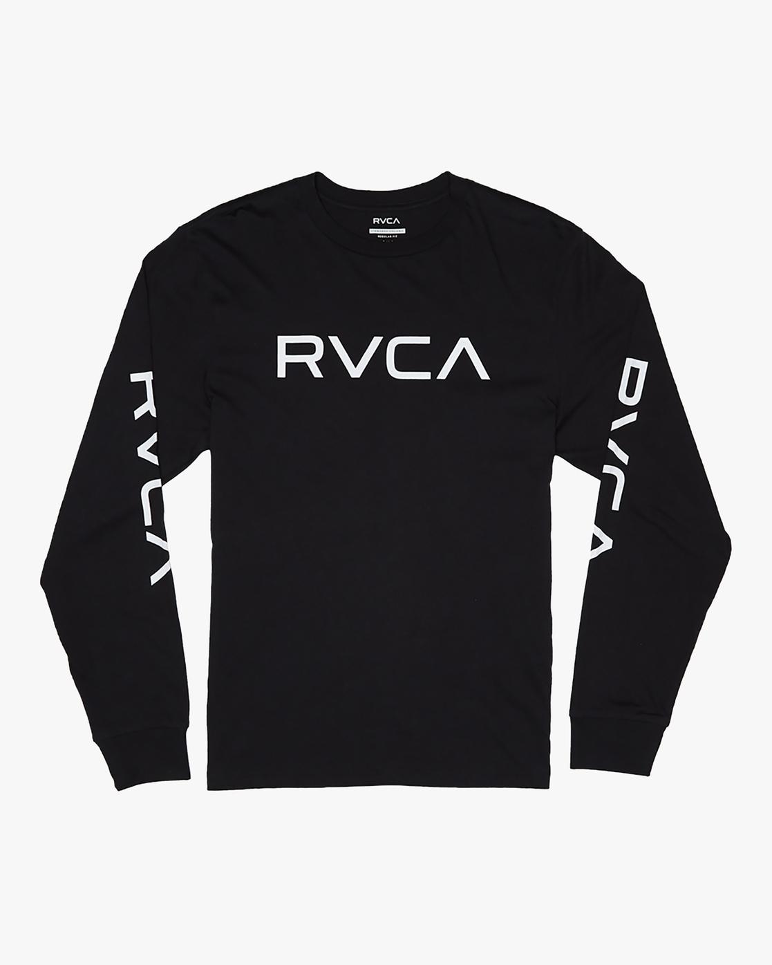 0 Big RVCA - Long Sleeve T-Shirt for Men Black S1LSRARVP0 RVCA