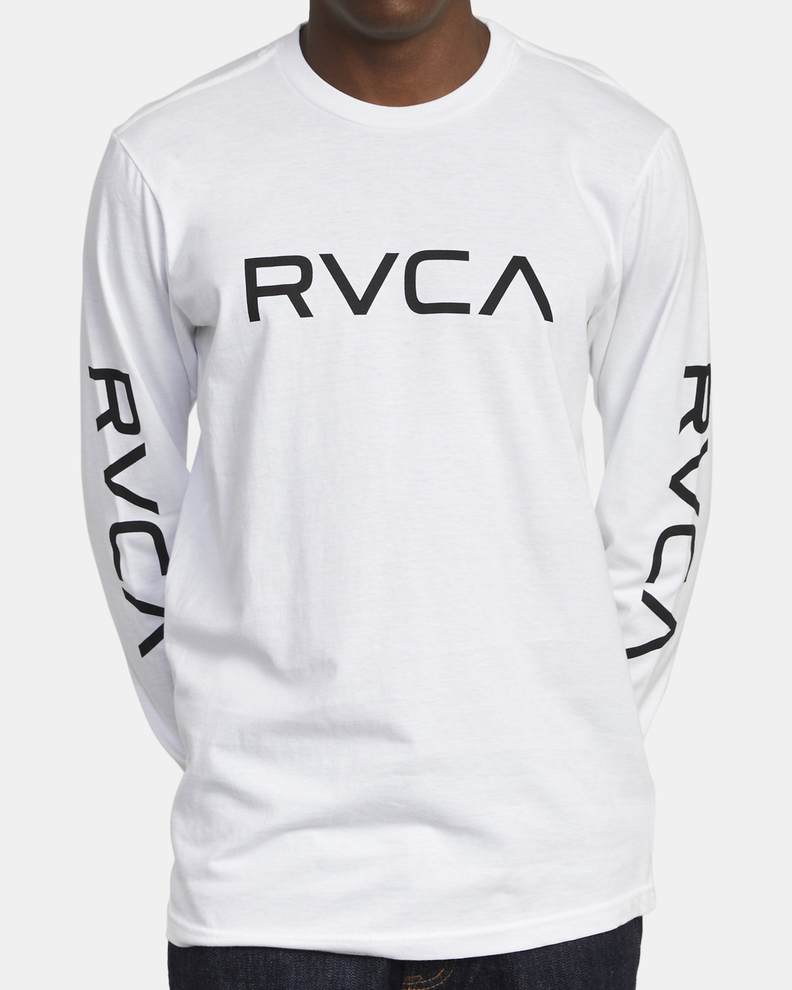 2 Big RVCA - Long Sleeve T-Shirt for Men White S1LSRARVP0 RVCA