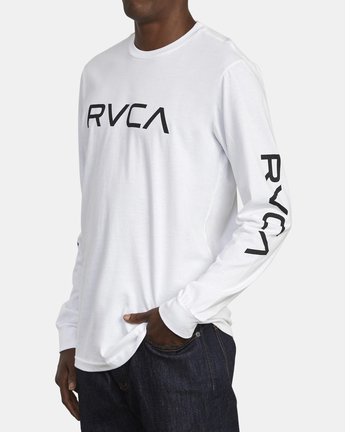 3 Big RVCA - Long Sleeve T-Shirt for Men White S1LSRARVP0 RVCA
