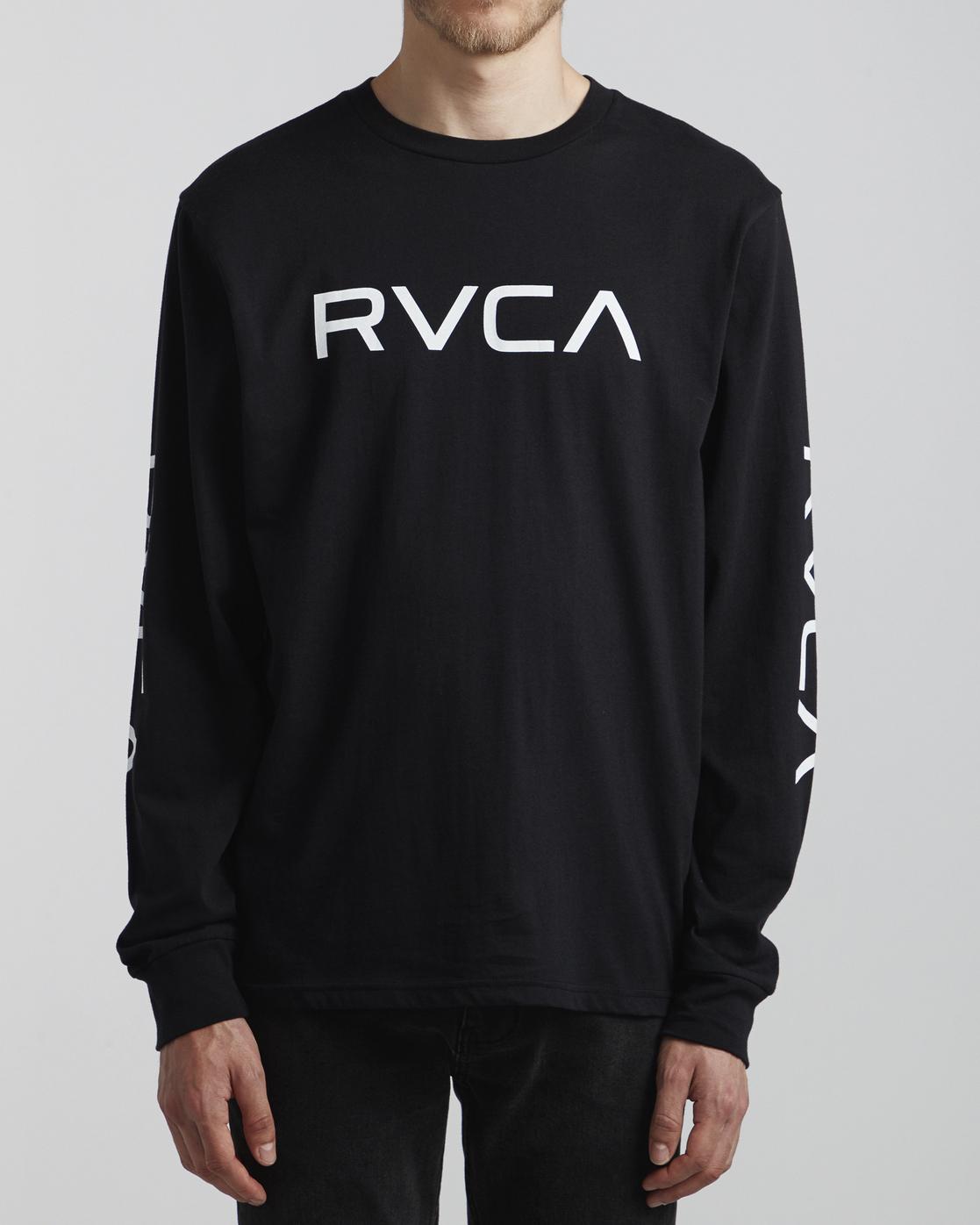 2 Big RVCA - Long Sleeve T-Shirt for Men Black S1LSRARVP0 RVCA