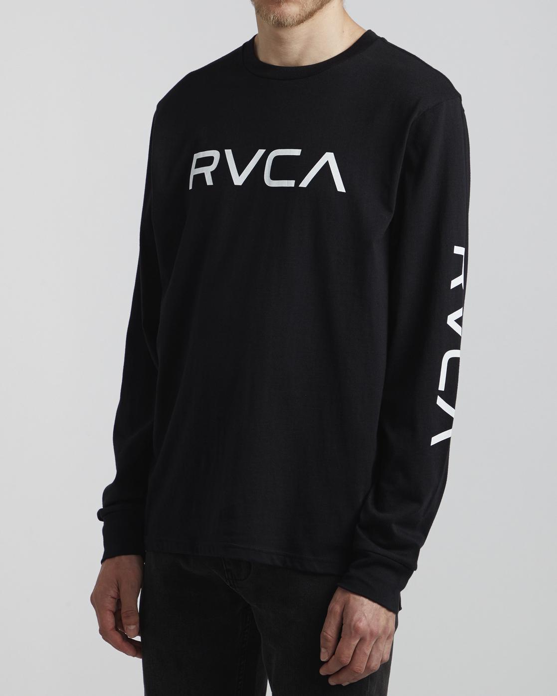 3 Big RVCA - Long Sleeve T-Shirt for Men Black S1LSRARVP0 RVCA
