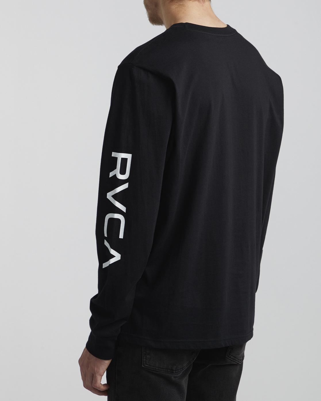 5 Big RVCA - Long Sleeve T-Shirt for Men Black S1LSRARVP0 RVCA