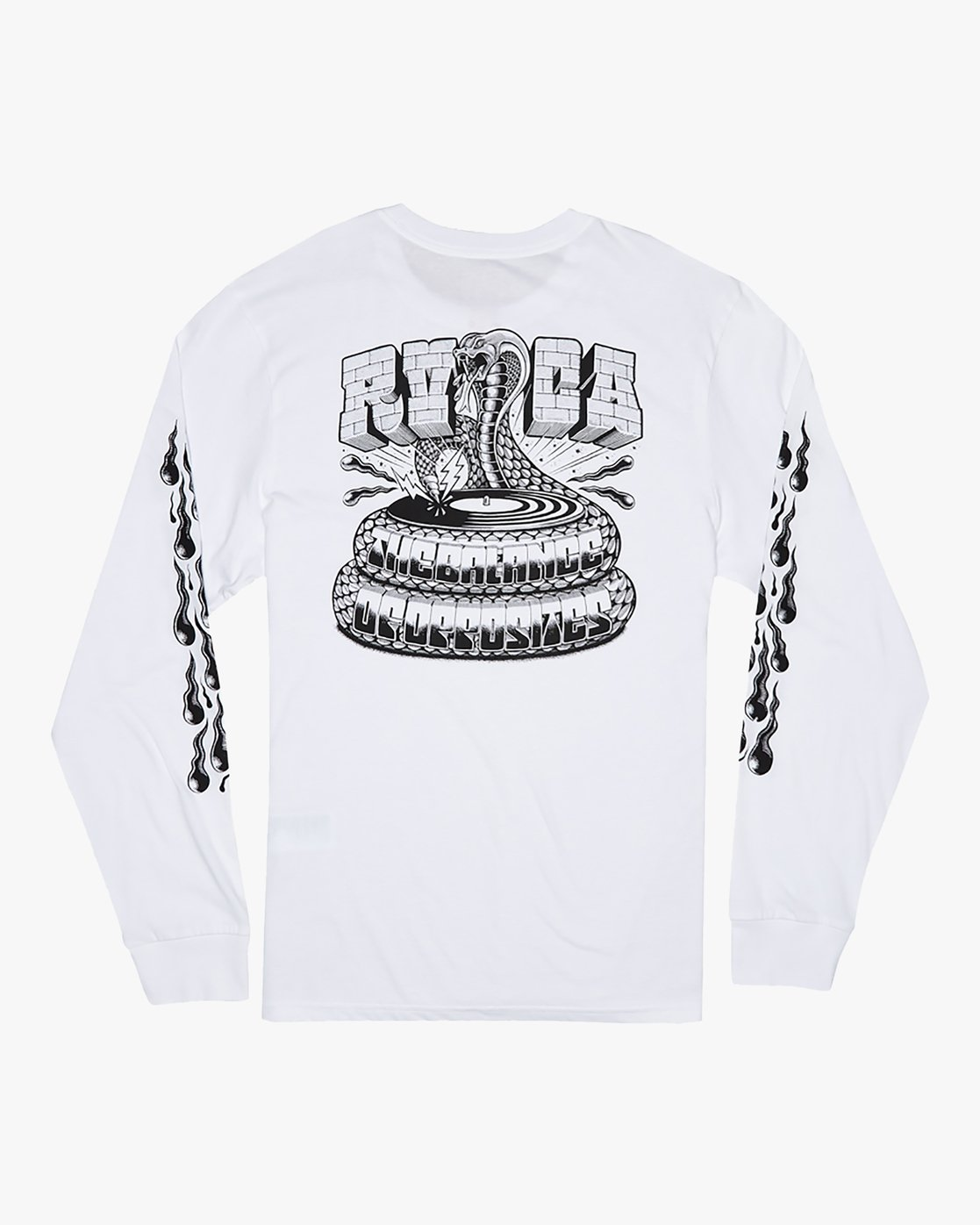 0 Martin Ander Snake - Long Sleeve T-Shirt for Men White S1LSRDRVP0 RVCA