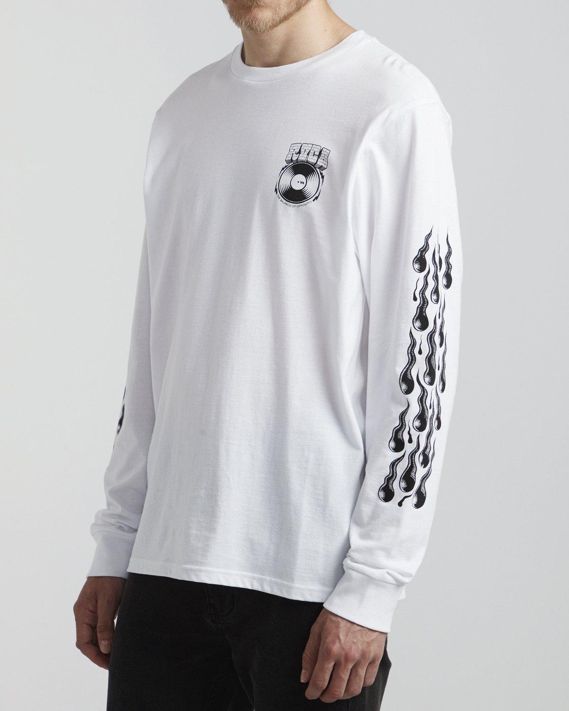 3 Martin Ander Snake - Long Sleeve T-Shirt for Men White S1LSRDRVP0 RVCA