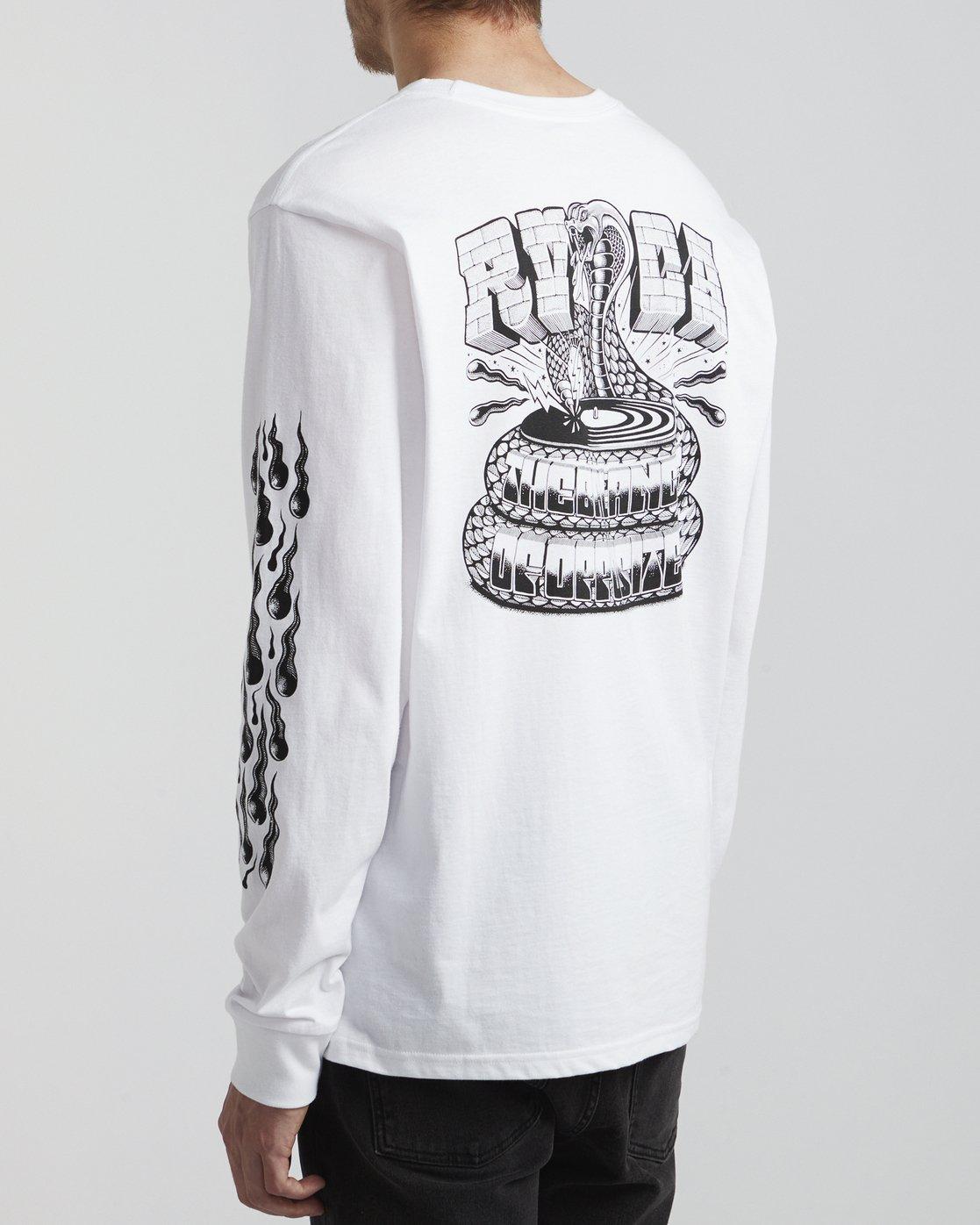 5 Martin Ander Snake - Long Sleeve T-Shirt for Men White S1LSRDRVP0 RVCA