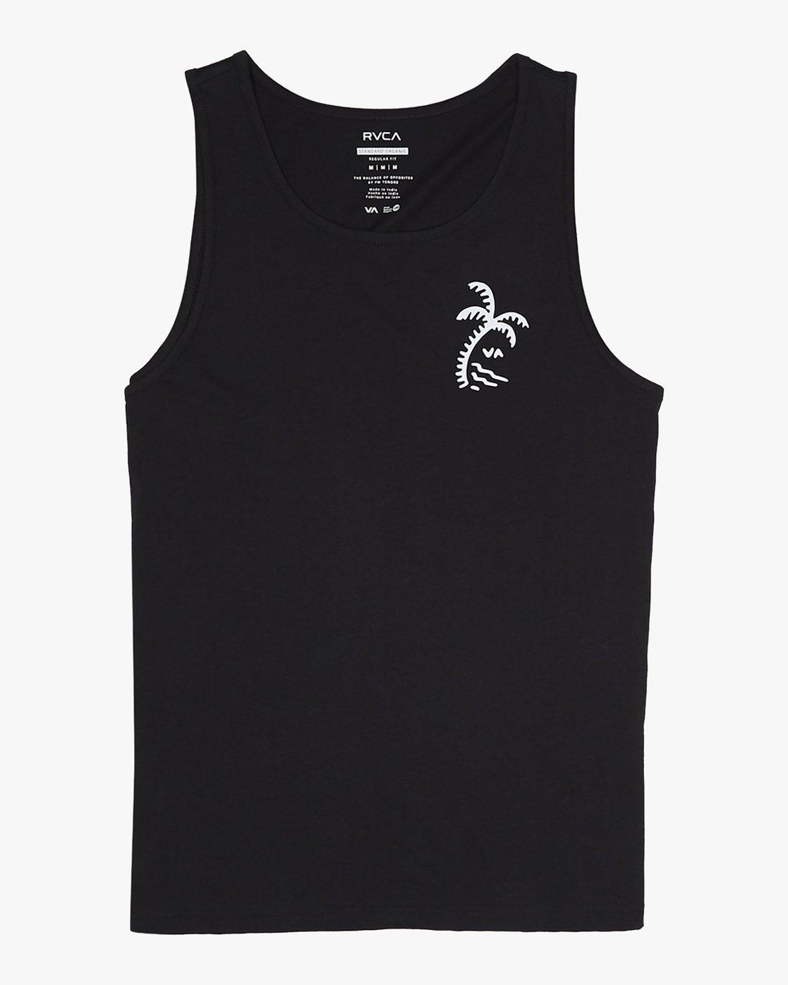 5 Palmer - T-Shirt for Men Black S1SGRARVP0 RVCA