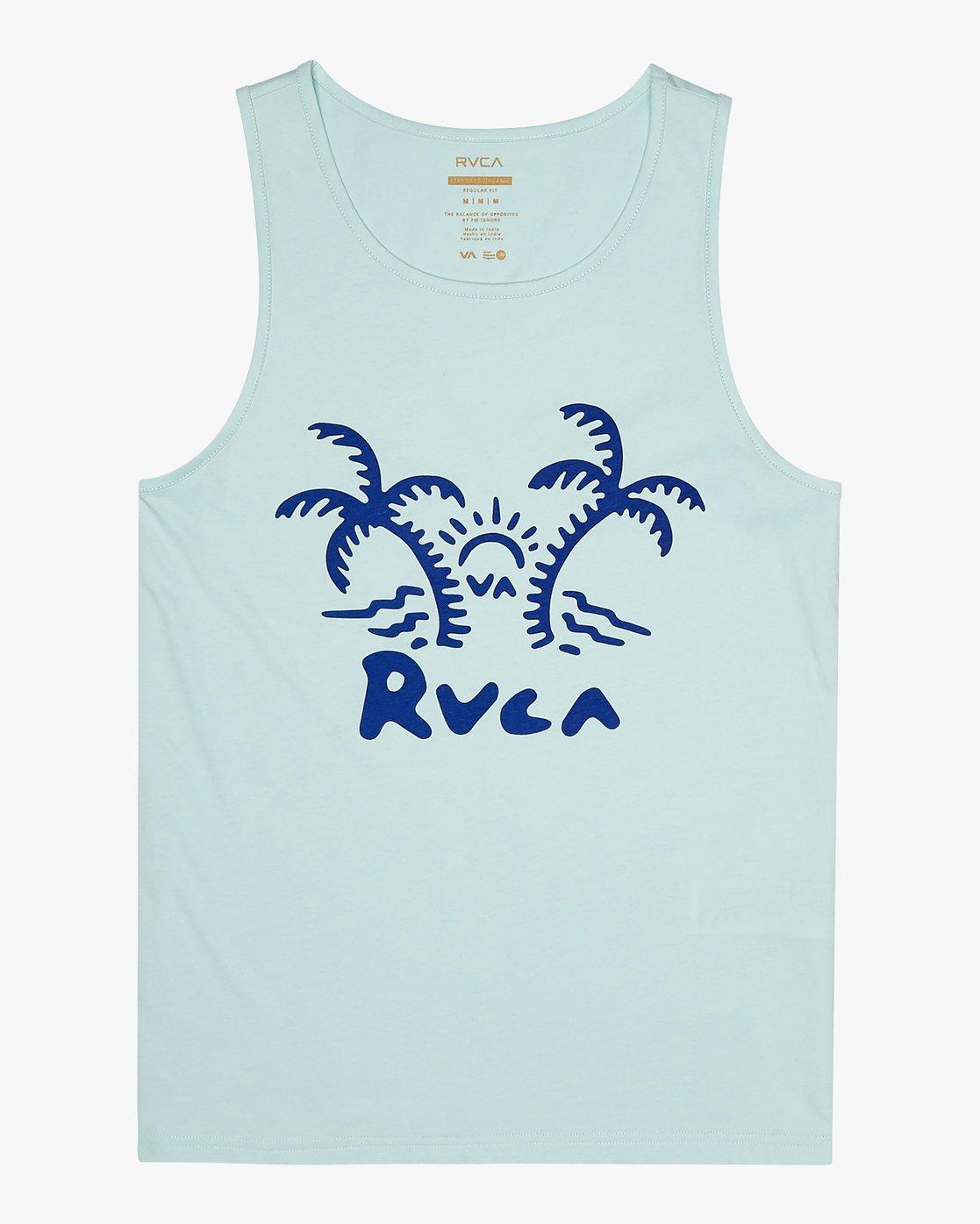 0 Palmer - T-Shirt for Men Blue S1SGRARVP0 RVCA
