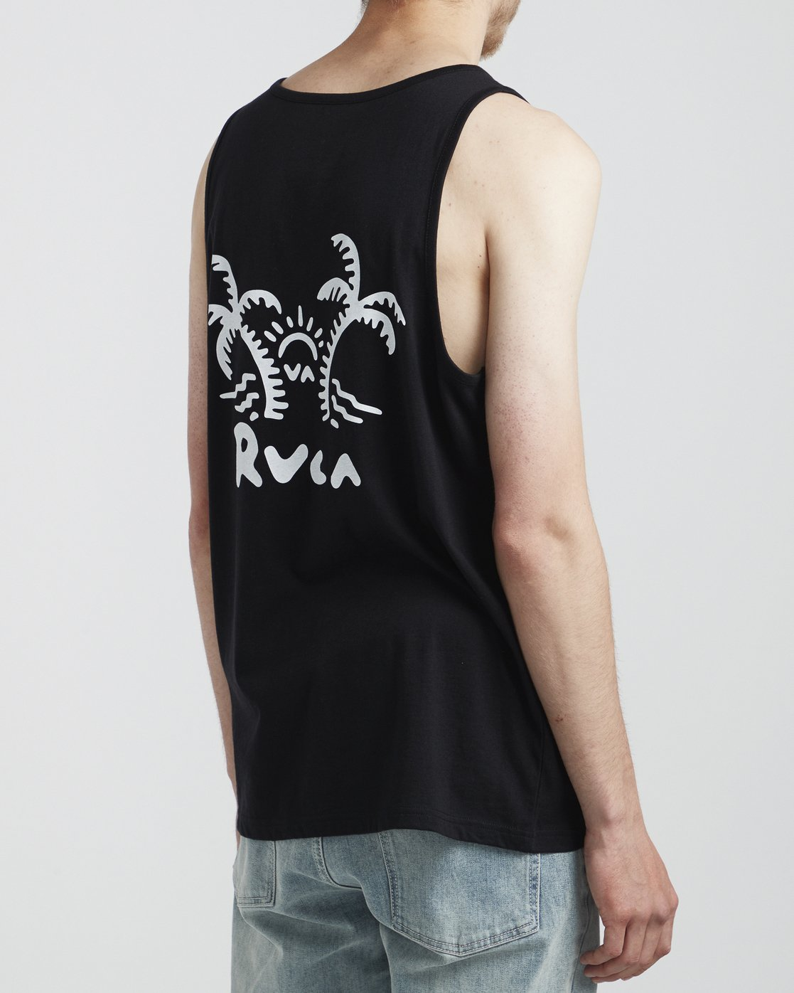 3 Palmer - T-Shirt for Men Black S1SGRARVP0 RVCA