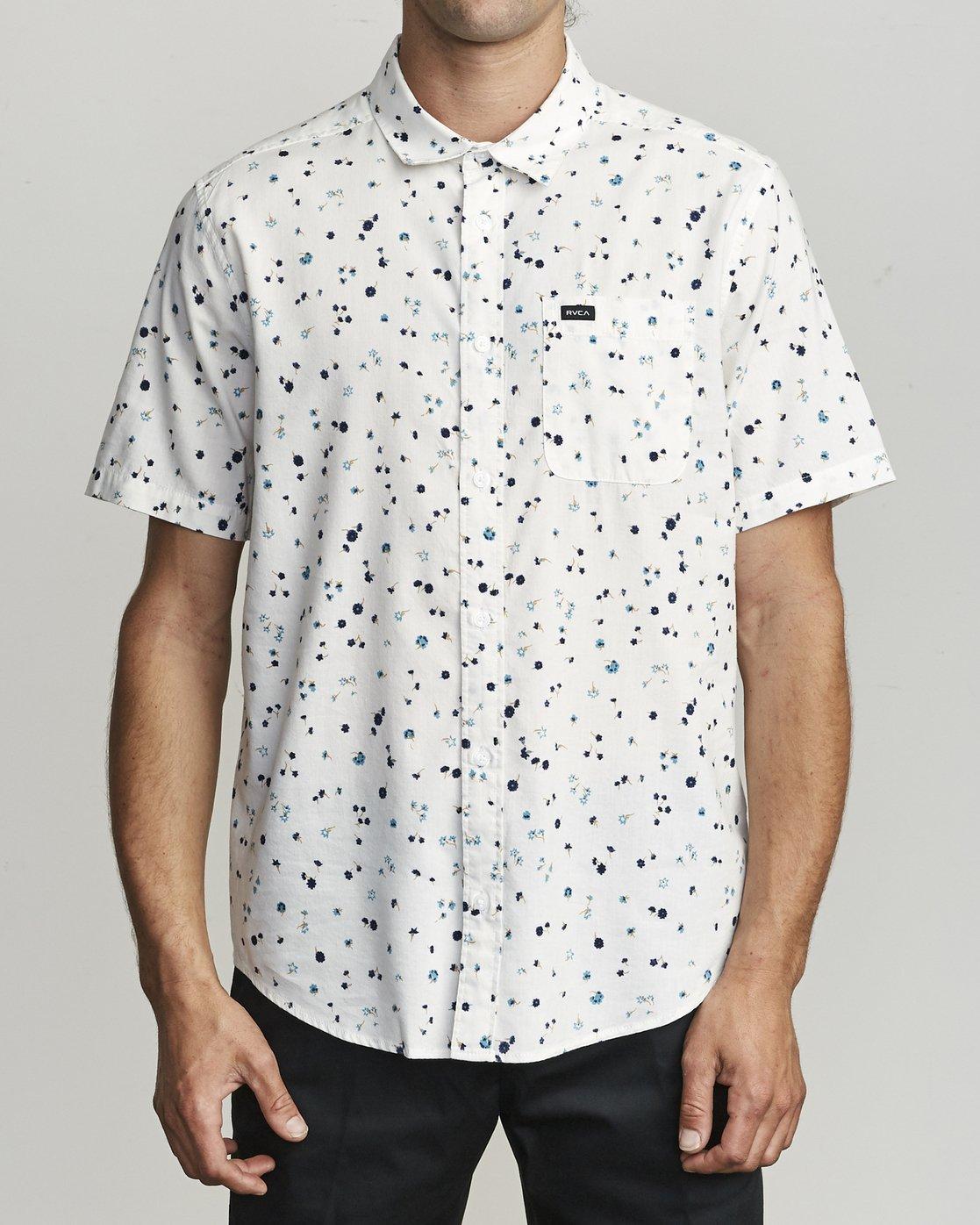 1 Calico - Printed Shirt for Men White S1SHRARVP0 RVCA