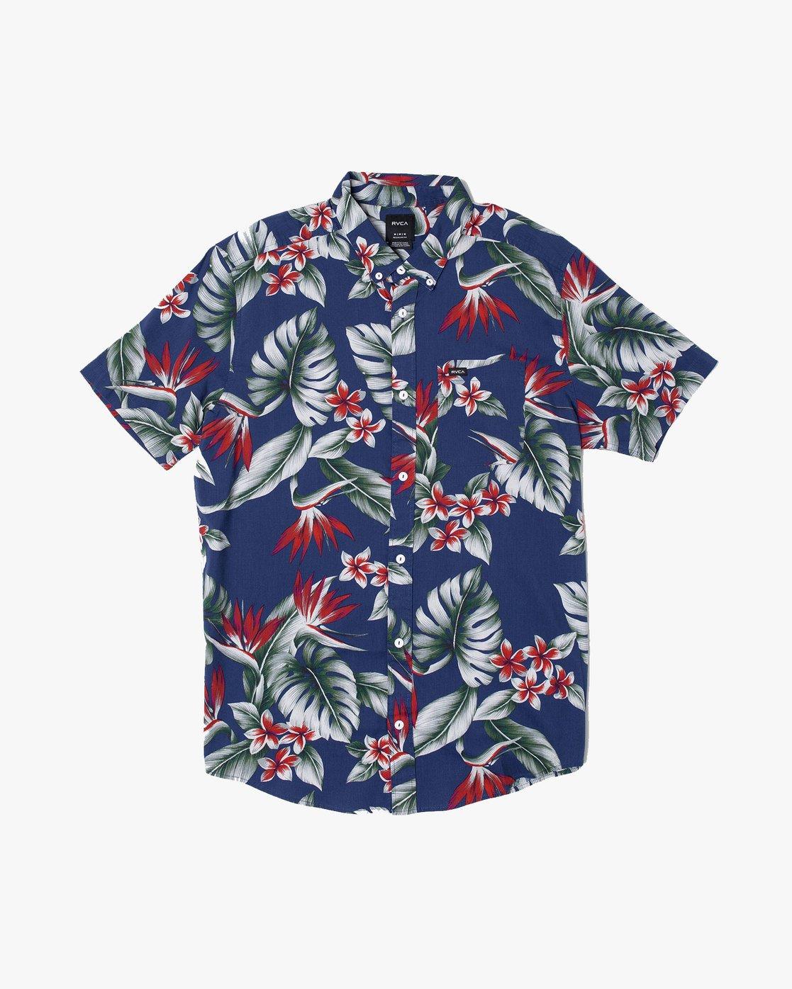 0 Montara - Aloha Shirt for Men Blue S1SHRCRVP0 RVCA