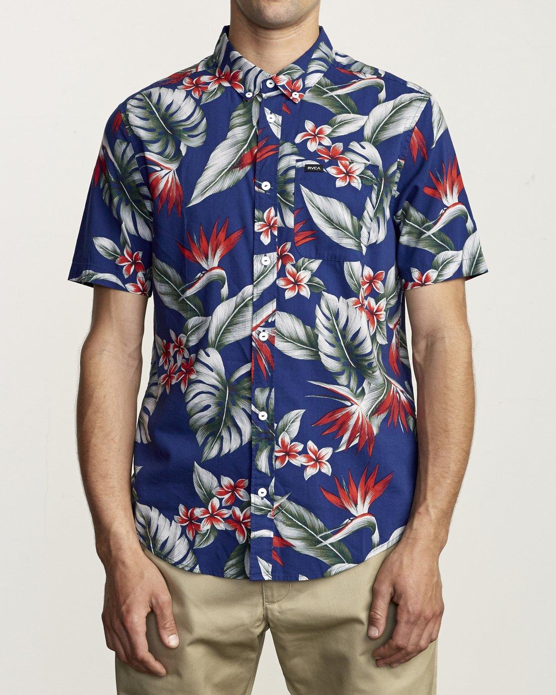 1 Montara - Aloha Shirt for Men Blue S1SHRCRVP0 RVCA