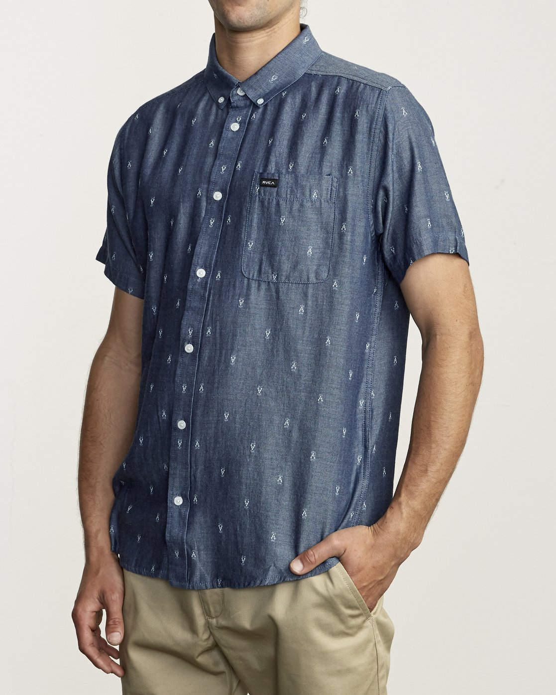 3 Thatll Do Dobby - Shirt for Men Blue S1SHRDRVP0 RVCA