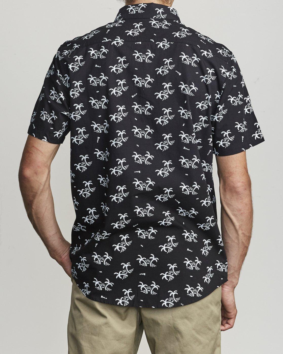 2 Easy Palms - Palm Print Shirt for Men Black S1SHRGRVP0 RVCA