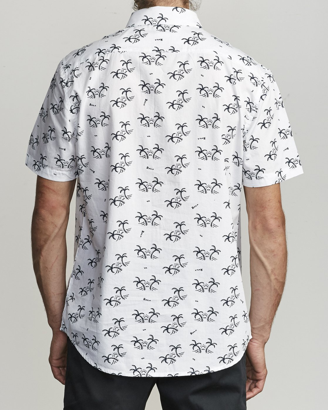 2 Easy Palms - Palm Print Shirt for Men White S1SHRGRVP0 RVCA