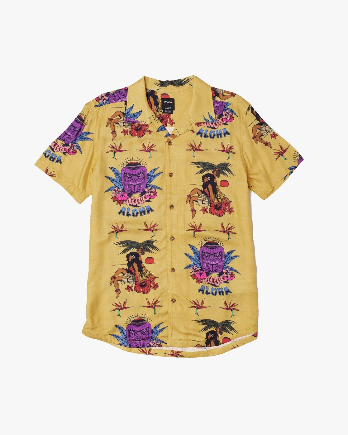 0 Dmote Tiki - Printed Short Sleeve Shirt for Men  S1SHRHRVP0 RVCA