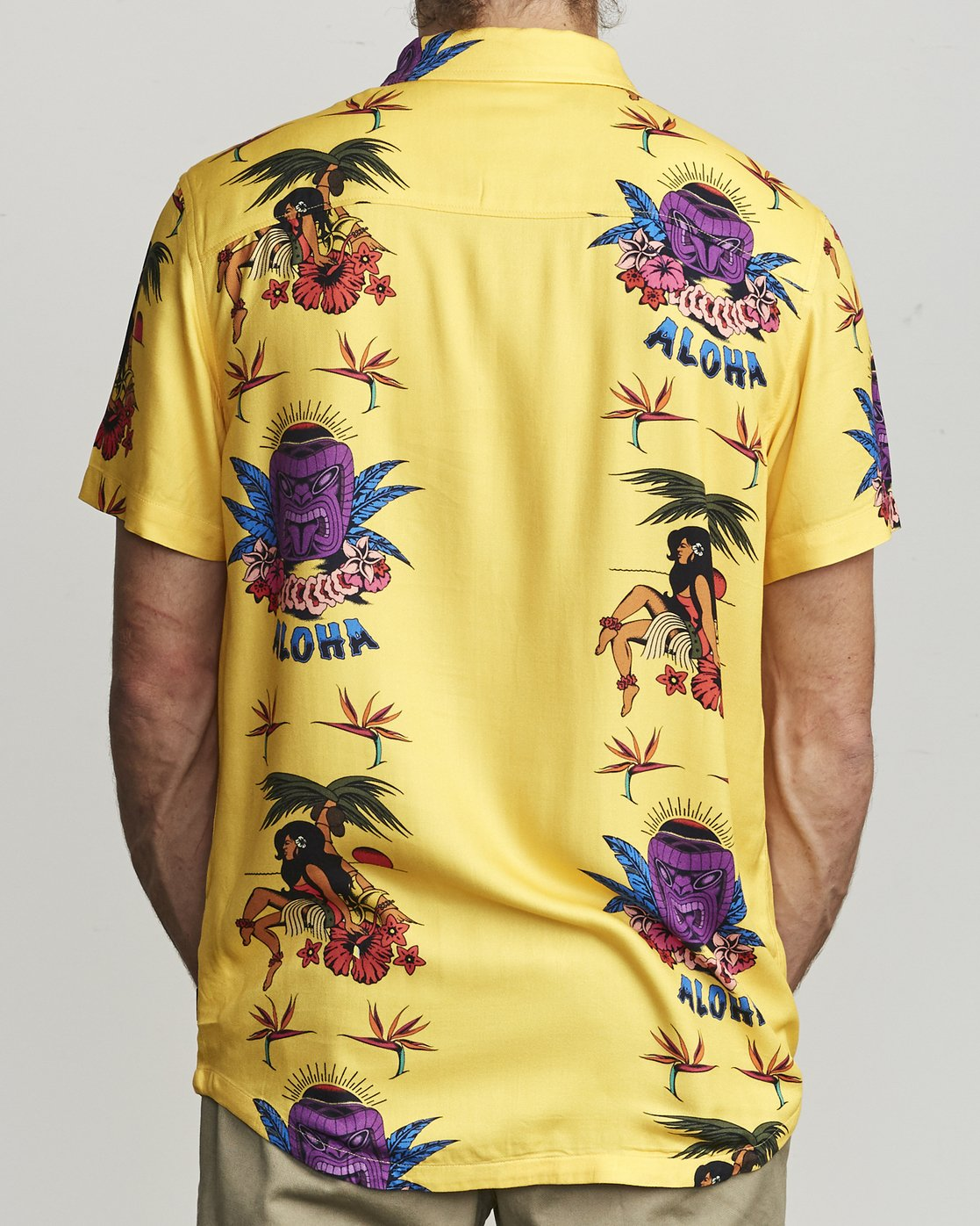 2 Dmote Tiki - Printed Short Sleeve Shirt for Men  S1SHRHRVP0 RVCA