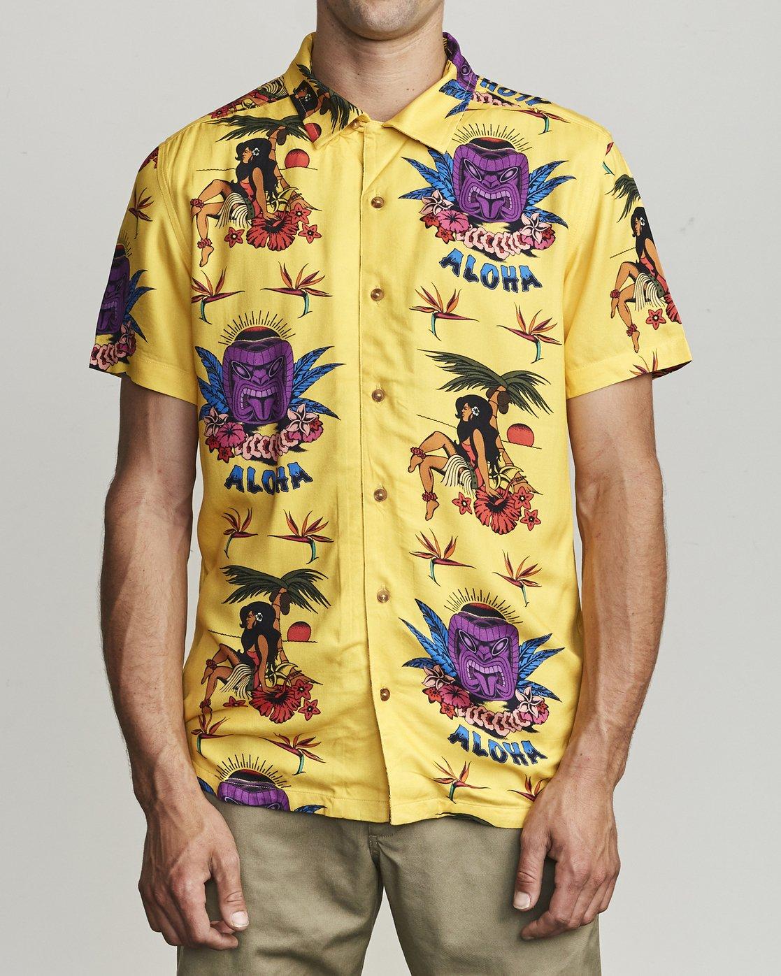 1 Dmote Tiki - Printed Short Sleeve Shirt for Men  S1SHRHRVP0 RVCA