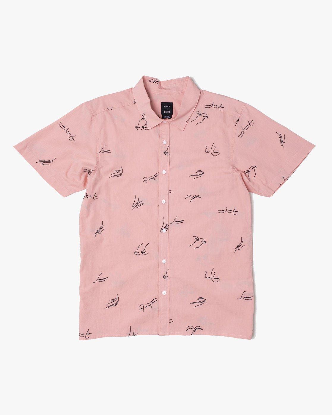 0 Johanna Olk Johanna Gestures - Short Sleeve Shirt for Short Sleeve Shirt Pink S1SHRIRVP0 RVCA