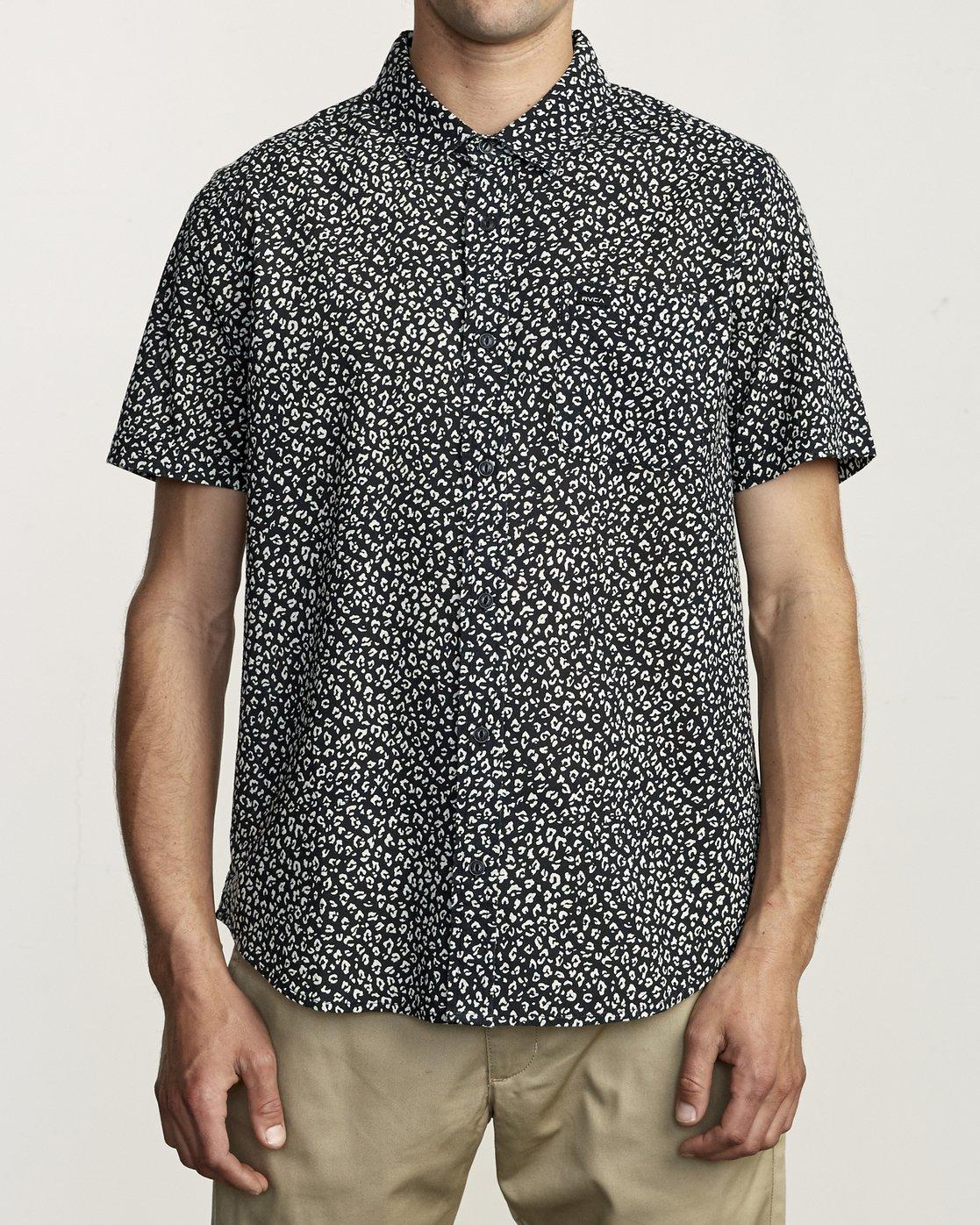 1 Presido - Printed Shirt for Men Black S1SHRKRVP0 RVCA