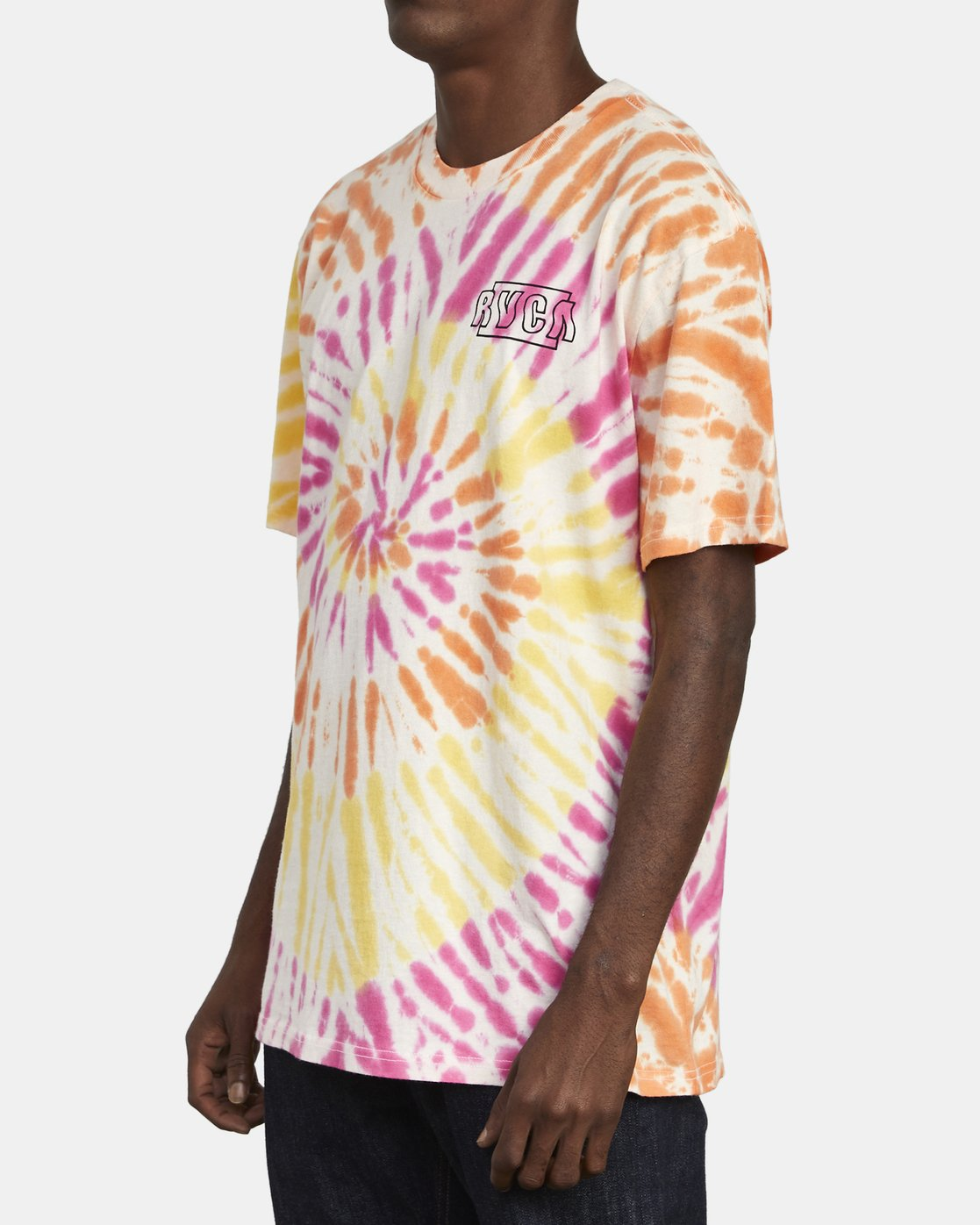 5 Swerve - Tie-Dye T-Shirt for Men  S1SSRERVP0 RVCA