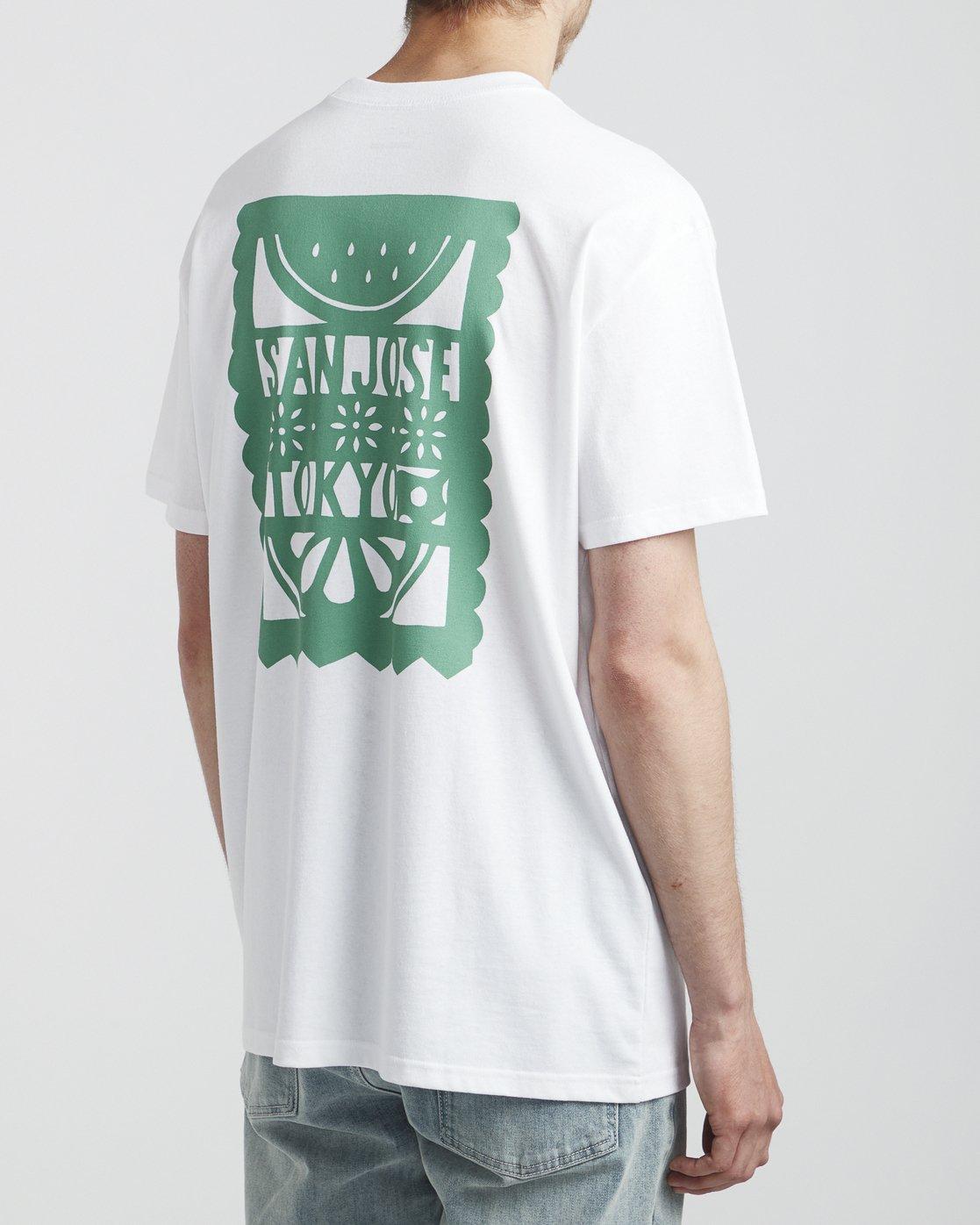 4 Hot Fudge La Rosa - T-Shirt for T-Shirt White S1SSRGRVP0 RVCA