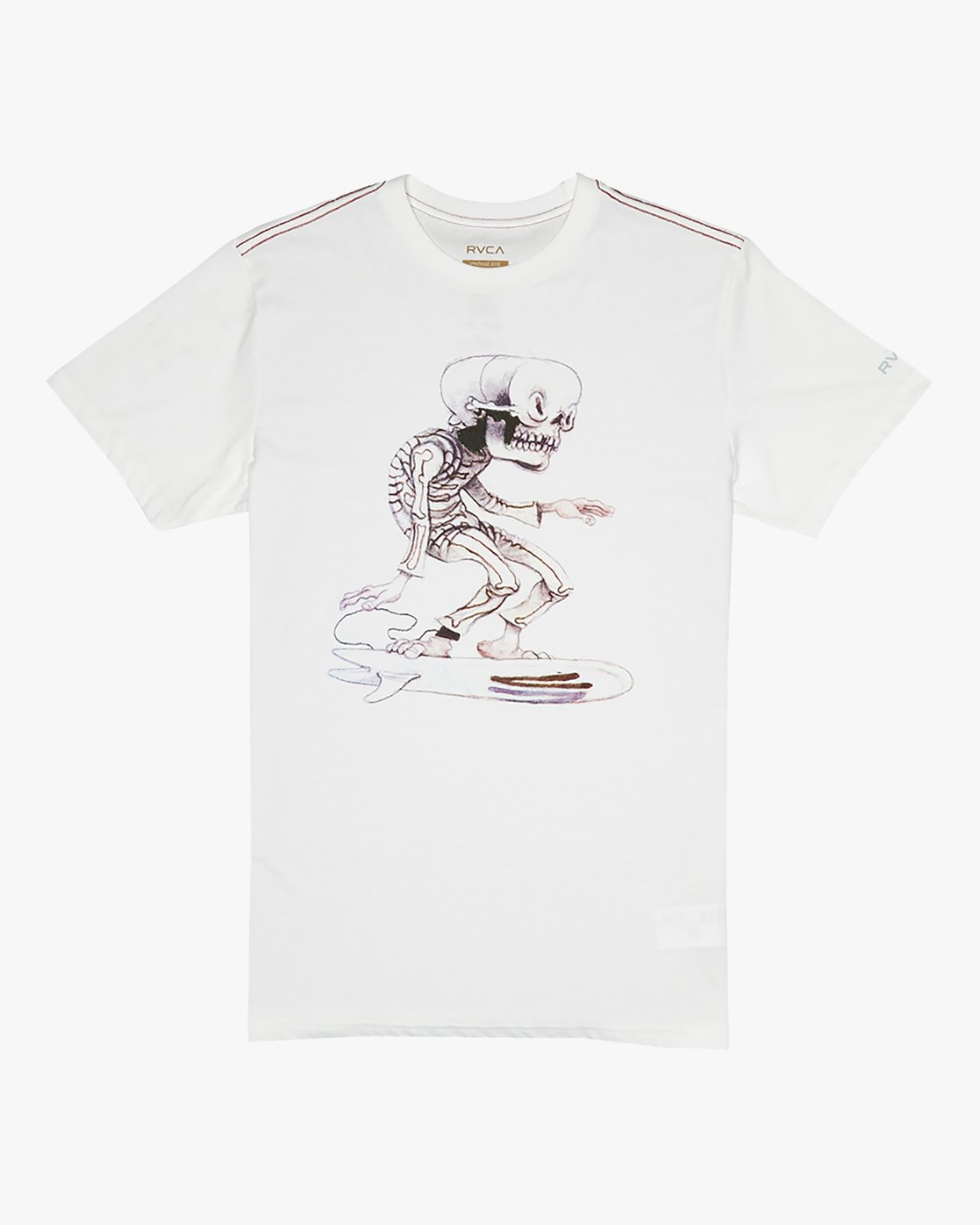 0 Jeff McMillan Skull Surfer - T-Shirt for T-Shirt White S1SSRJRVP0 RVCA