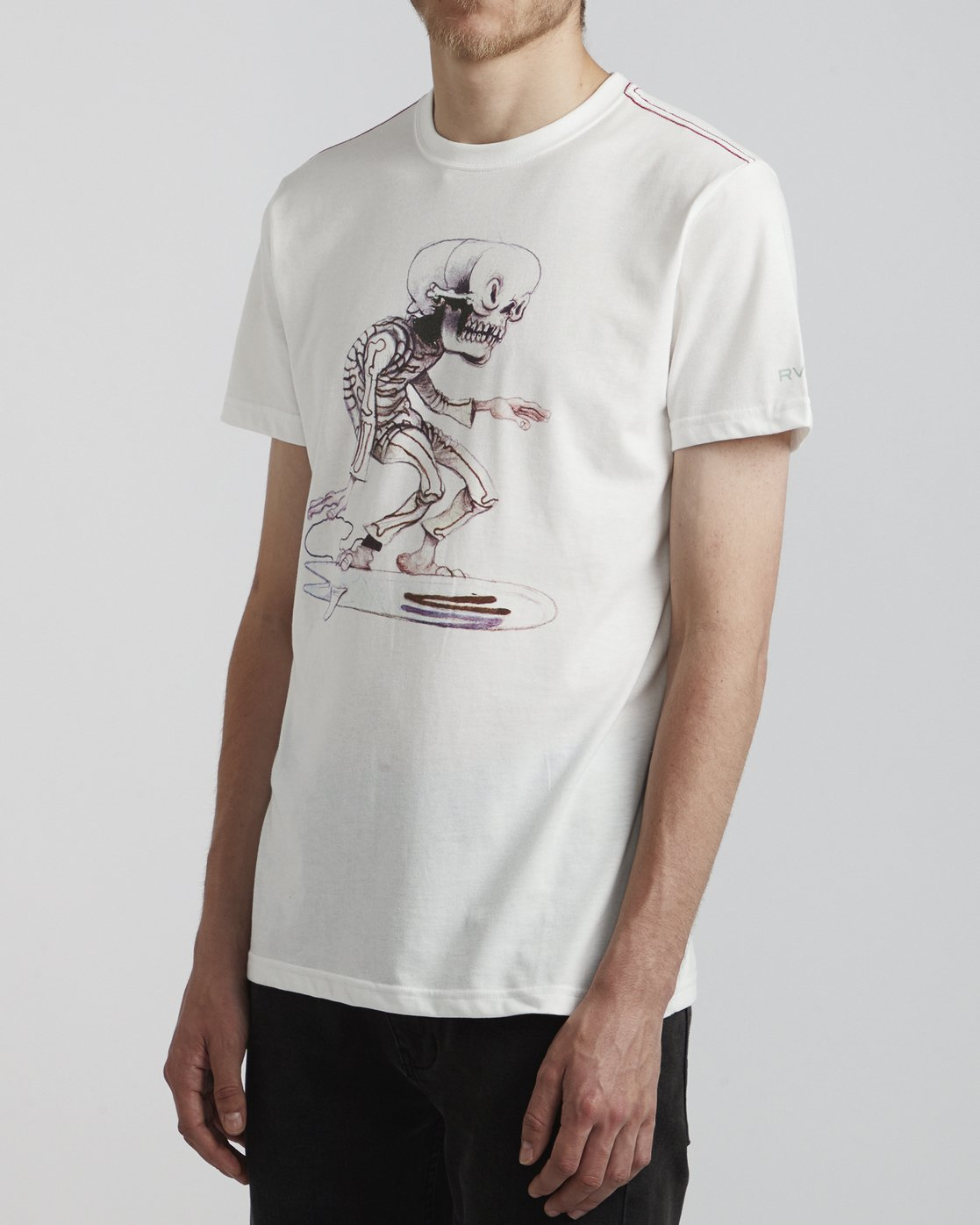 3 Jeff McMillan Skull Surfer - T-Shirt for T-Shirt White S1SSRJRVP0 RVCA