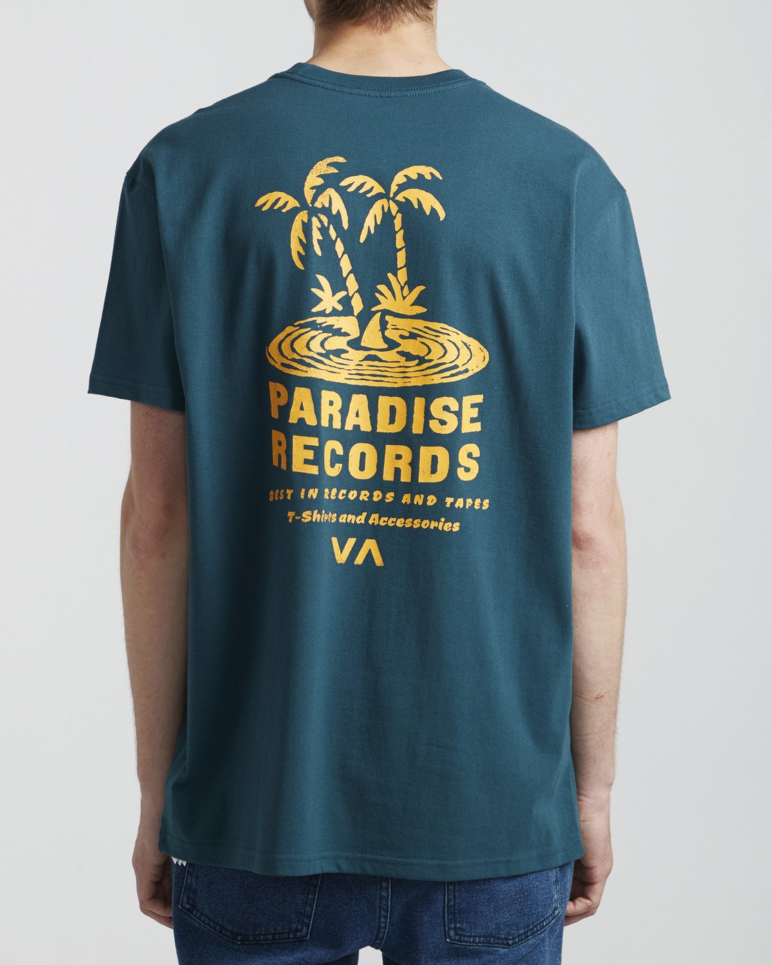 5 Paradise Records - T-Shirt for Men Blue S1SSRKRVP0 RVCA