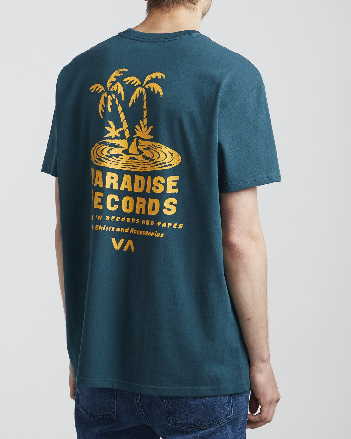 4 Paradise Records - T-Shirt for Men Blue S1SSRKRVP0 RVCA