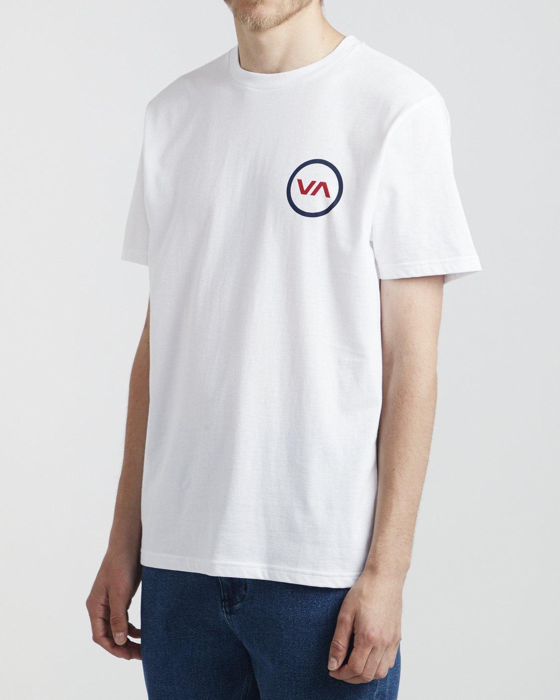 3 VA Mod - T-Shirt for Men White S1SSRQRVP0 RVCA