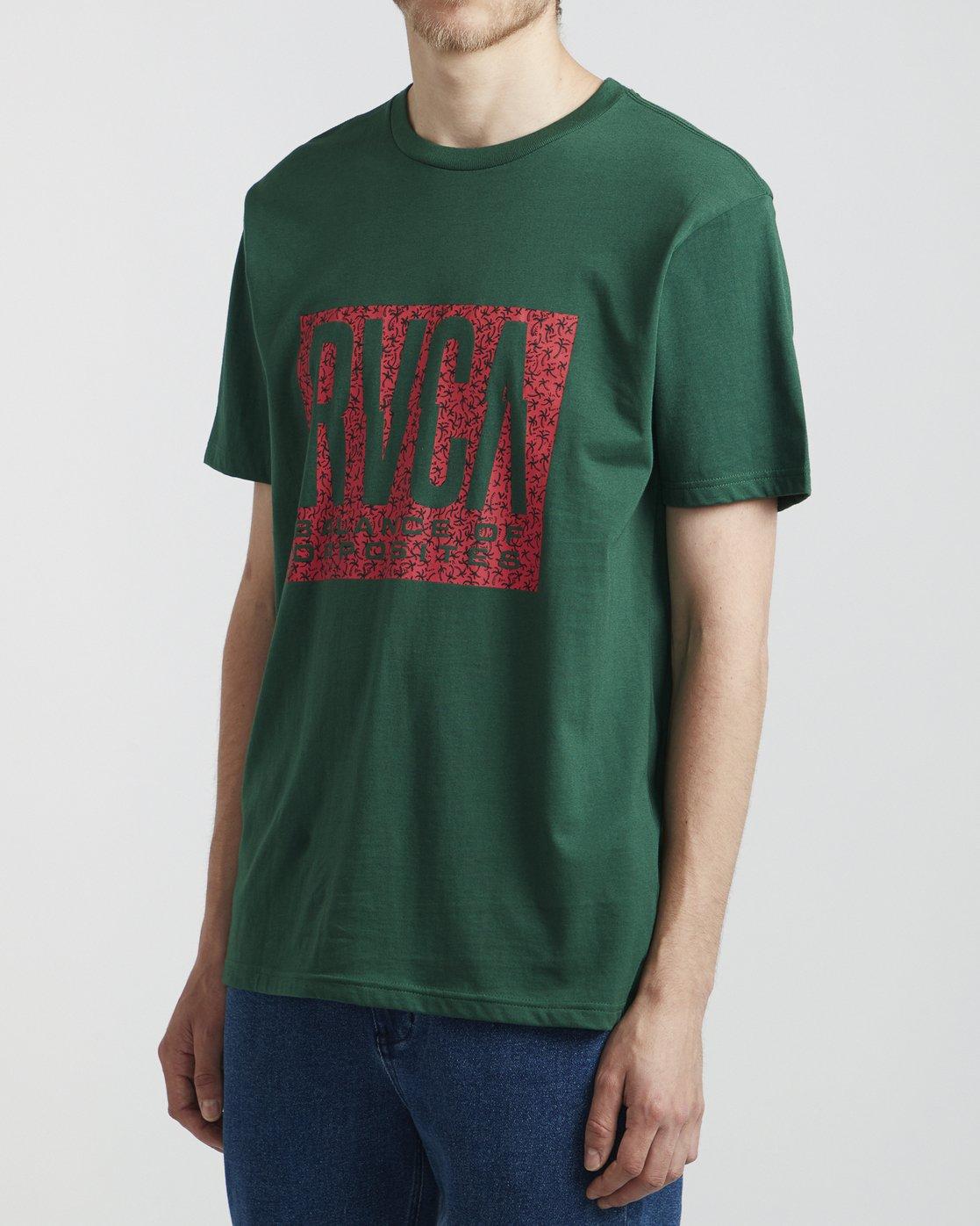 3 Balance - T-Shirt for Men Green S1SSRVRVP0 RVCA