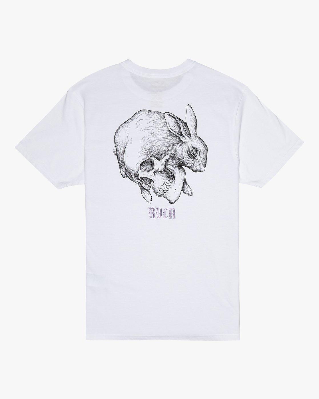 0 Benjamin Jeanjean Skull Rabbit - T-Shirt for Men White S1SSRWRVP0 RVCA