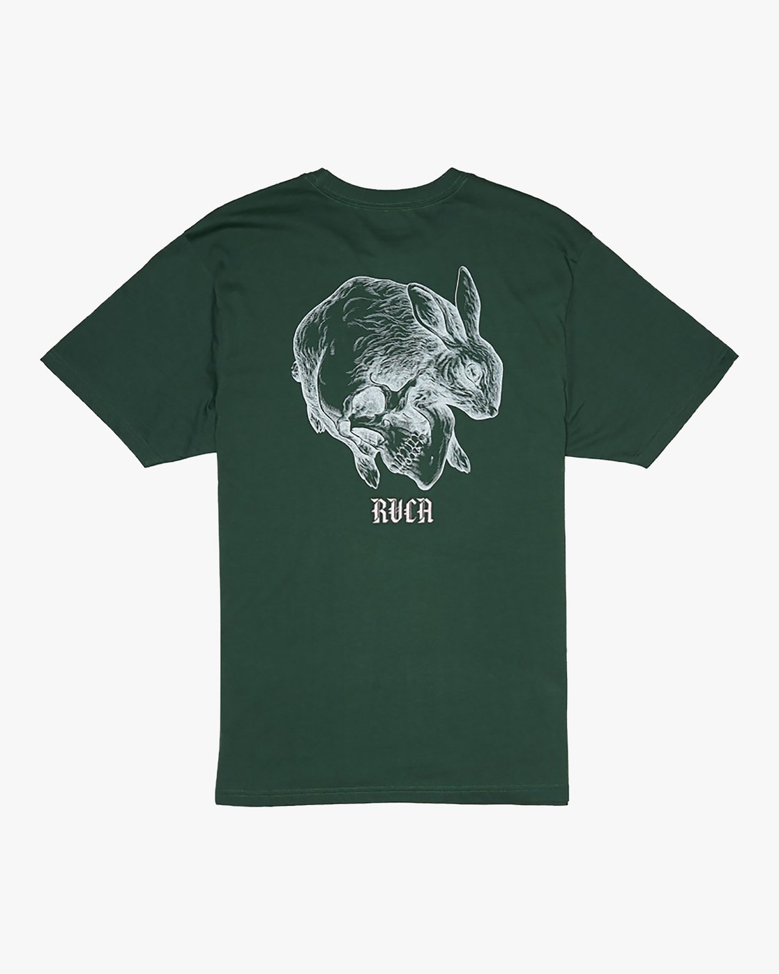 0 Benjamin Jeanjean Skull Rabbit - T-Shirt for Men Green S1SSRWRVP0 RVCA