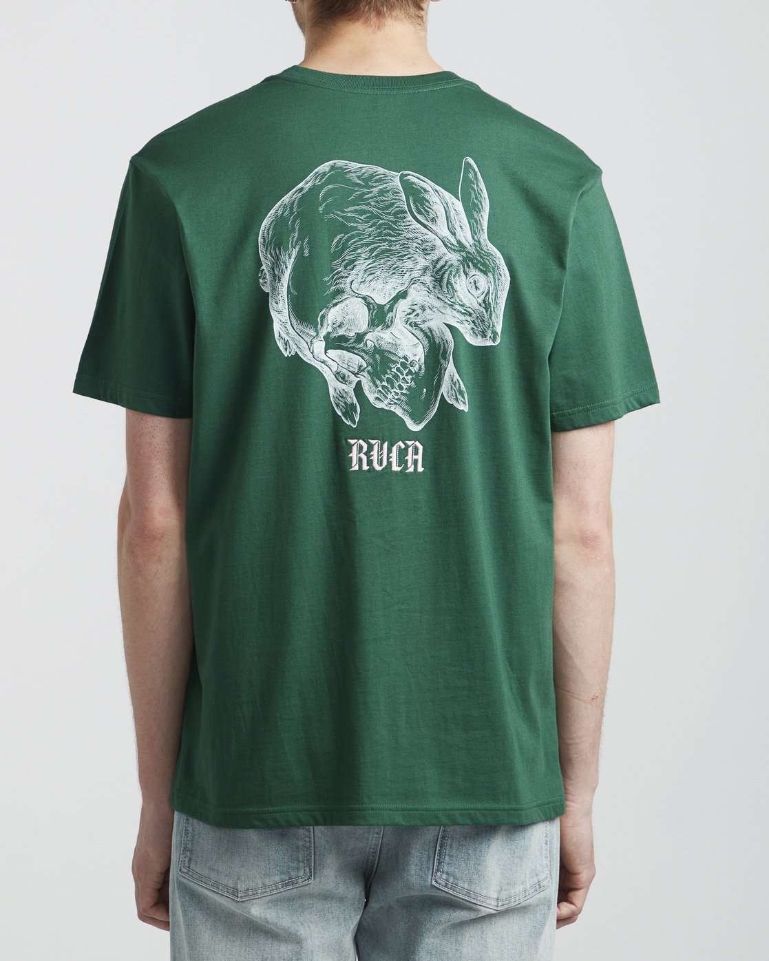 5 Benjamin Jeanjean Skull Rabbit - T-Shirt for Men Green S1SSRWRVP0 RVCA