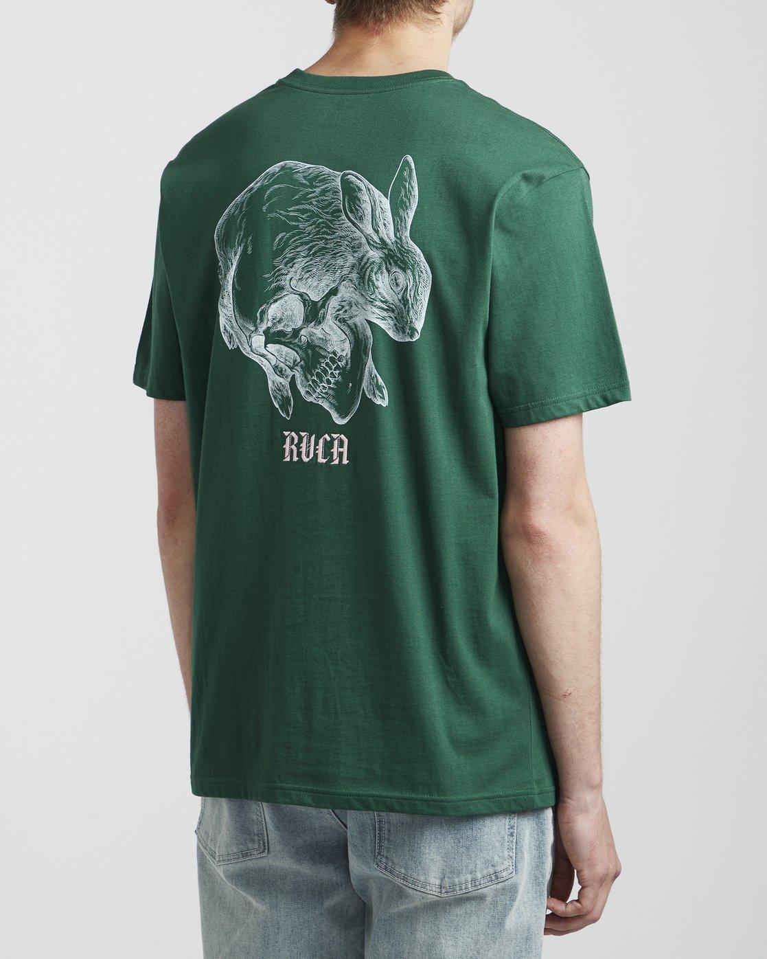 4 Benjamin Jeanjean Skull Rabbit - T-Shirt for Men Green S1SSRWRVP0 RVCA