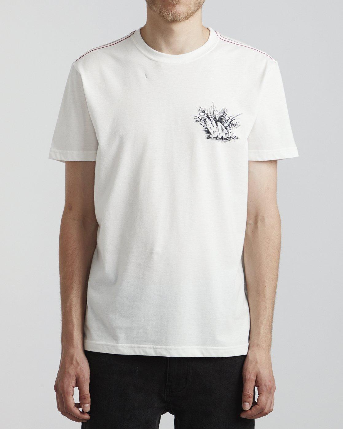 2 Benjamin Jeanjean Aloha Opposites - T-Shirt pour Homme Blanc S1SSSHRVP0 RVCA
