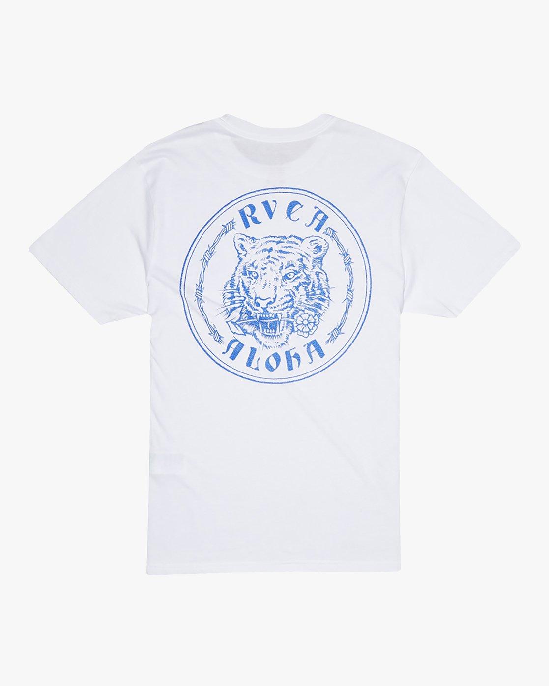 0 Benjamin Jeanjean Alohatiger - T-Shirt pour Homme Blanc S1SSSIRVP0 RVCA