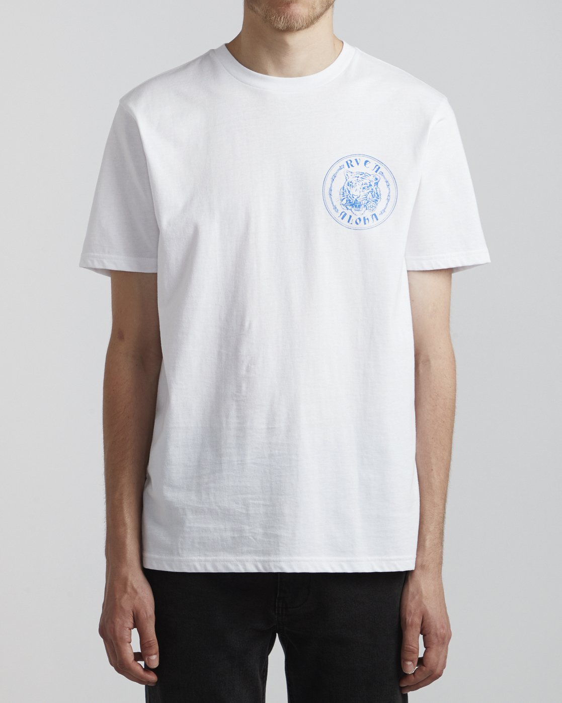 2 Benjamin Jeanjean Alohatiger - T-Shirt pour Homme Blanc S1SSSIRVP0 RVCA