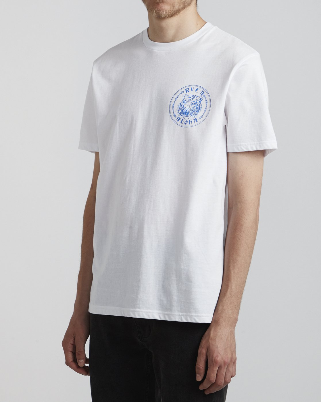 3 Benjamin Jeanjean Alohatiger - T-Shirt pour Homme Blanc S1SSSIRVP0 RVCA