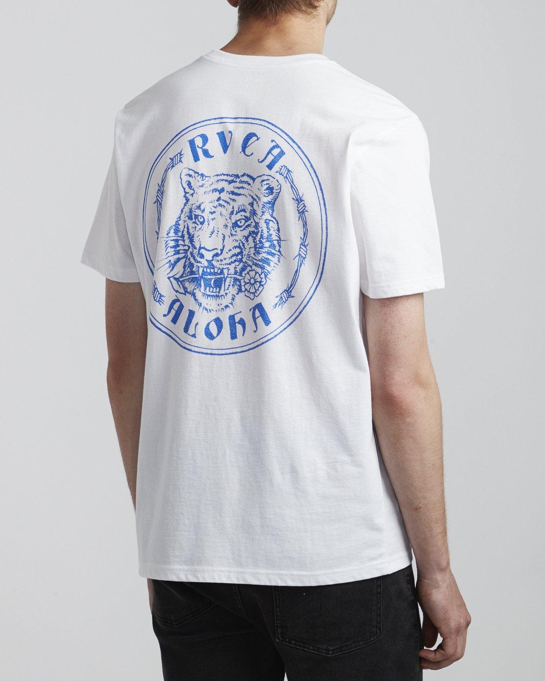 4 Benjamin Jeanjean Alohatiger - T-Shirt pour Homme Blanc S1SSSIRVP0 RVCA