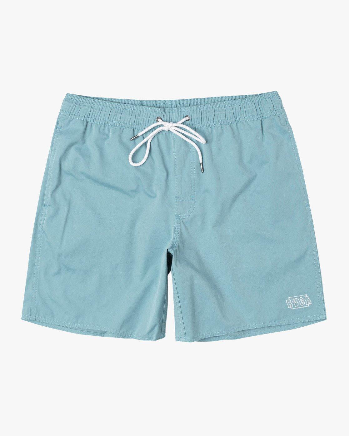 "0 Opposites 17"" - Elastic Waist Shorts for Elastic Waist Shorts  S1VORBRVP0 RVCA"
