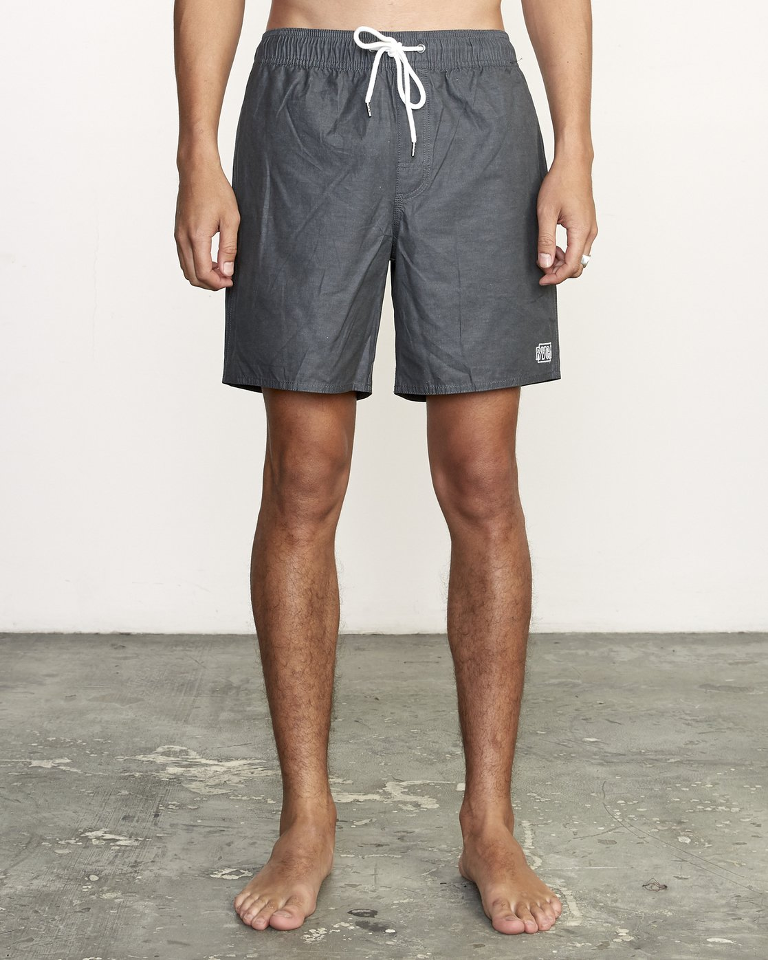 "1 Opposites 17"" - Elastic Waist Shorts for Elastic Waist Shorts Black S1VORBRVP0 RVCA"