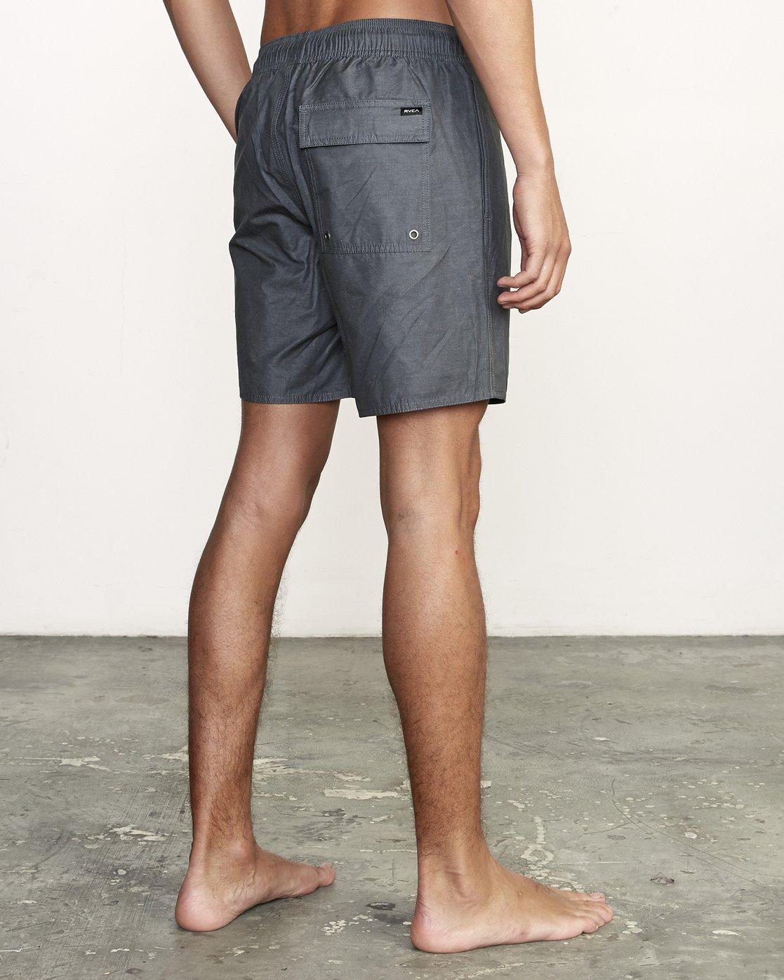 "5 Opposites 17"" - Elastic Waist Shorts for Elastic Waist Shorts Black S1VORBRVP0 RVCA"