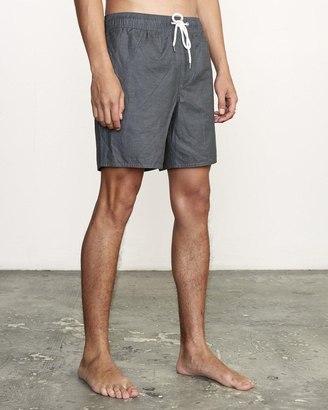 "6 Opposites 17"" - Elastic Waist Shorts for Elastic Waist Shorts Black S1VORBRVP0 RVCA"