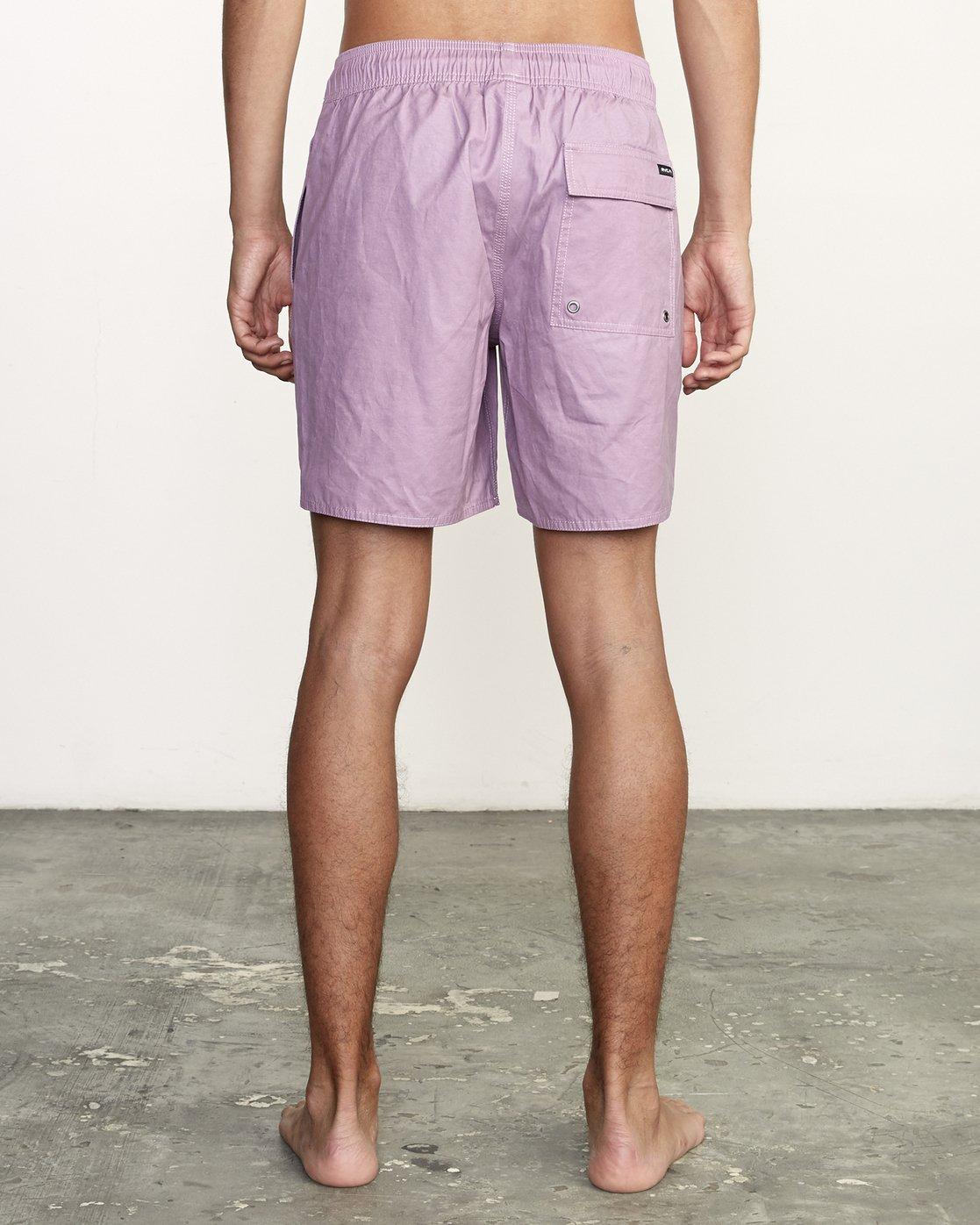 "4 Opposites 17"" - Elastic Waist Shorts for Elastic Waist Shorts Purple S1VORBRVP0 RVCA"