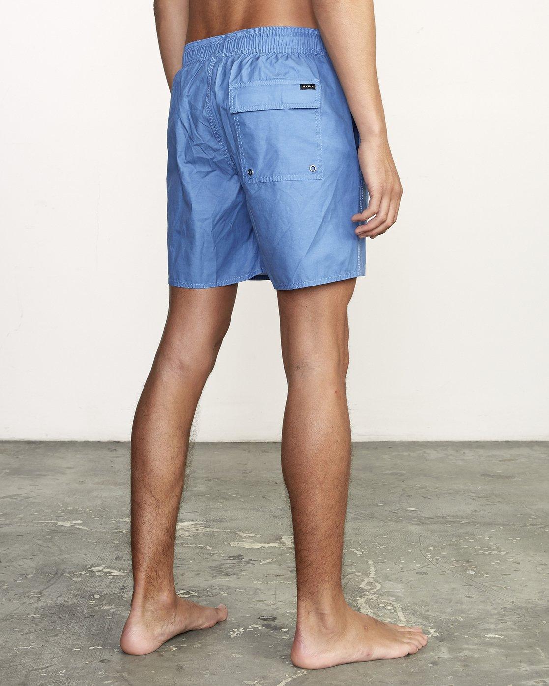 """5 Opposites 17"""" -Elastic Waist Shorts for Men  S1VORBRVP0 RVCA"""