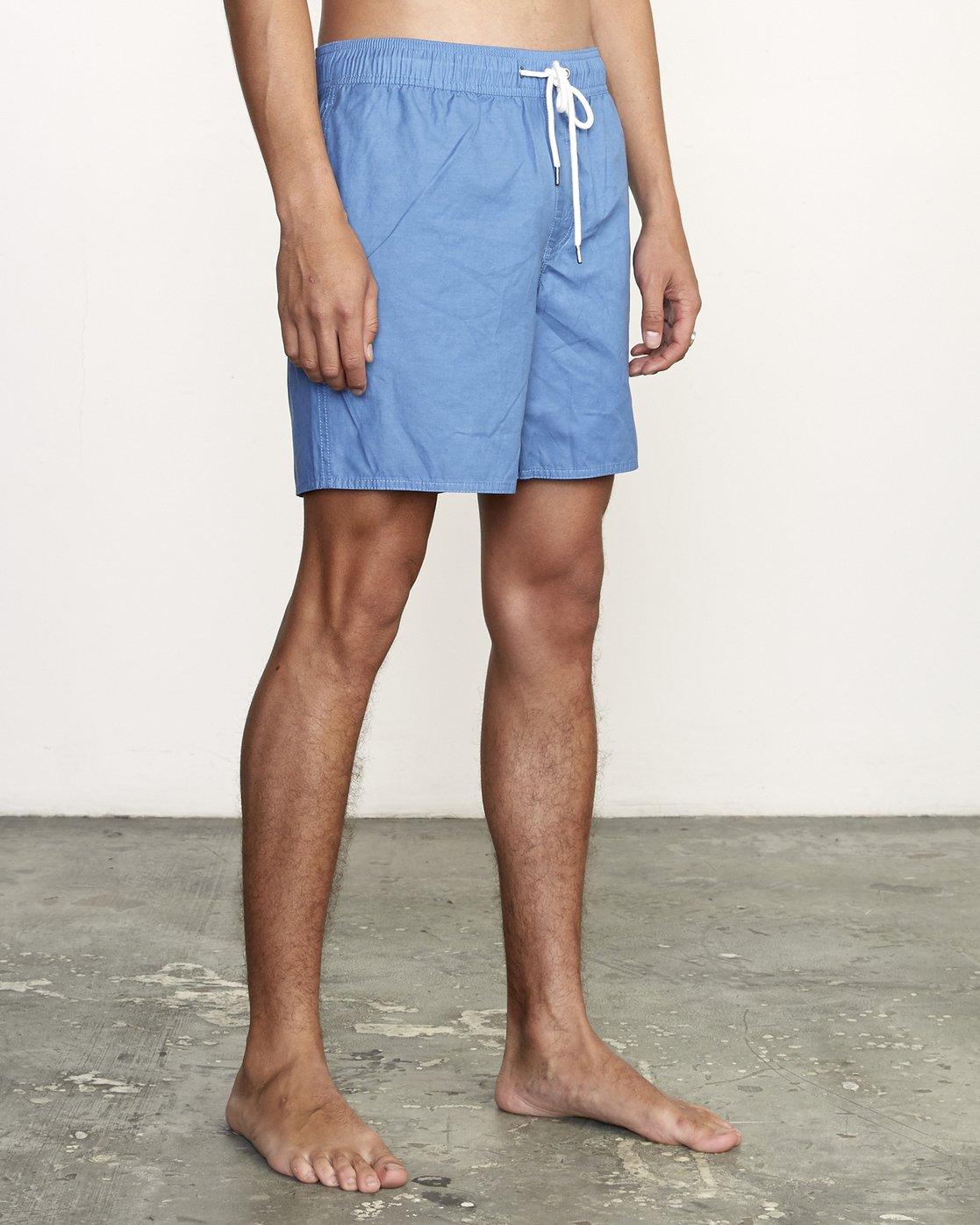 """6 Opposites 17"""" -Elastic Waist Shorts for Men  S1VORBRVP0 RVCA"""