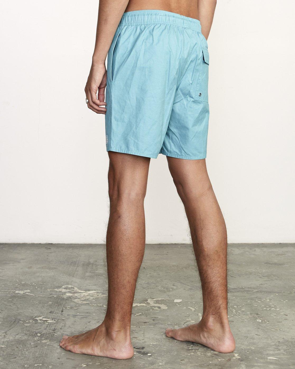 "3 Opposites 17"" - Elastic Waist Shorts for Elastic Waist Shorts  S1VORBRVP0 RVCA"