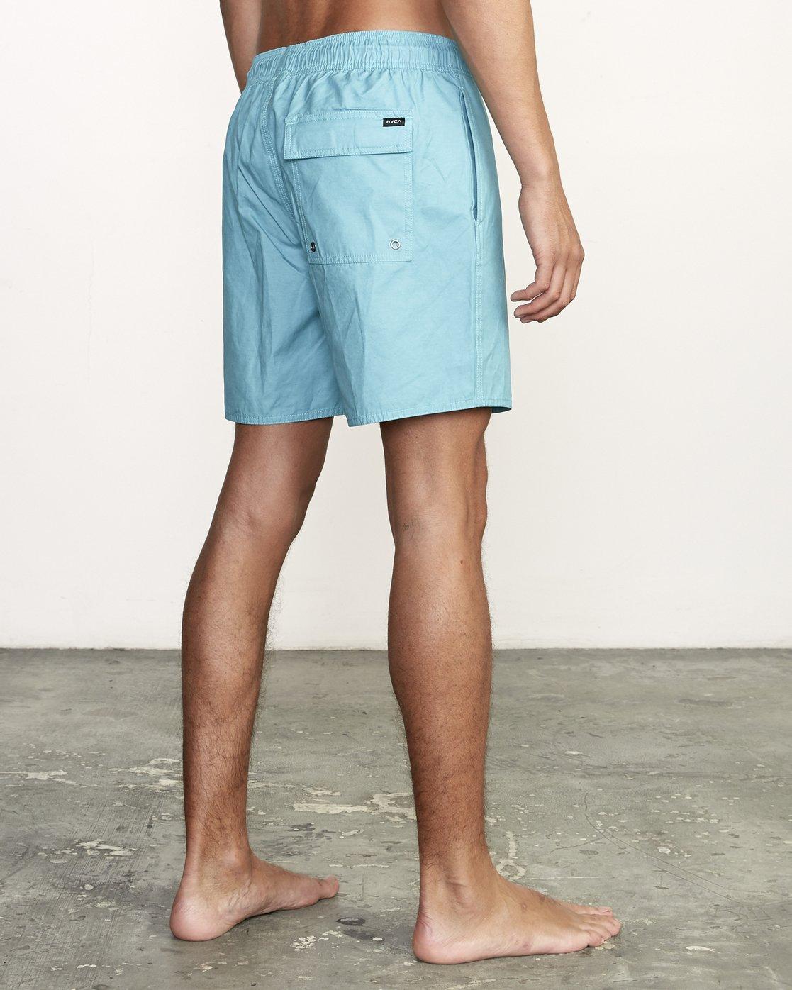 "5 Opposites 17"" - Elastic Waist Shorts for Elastic Waist Shorts  S1VORBRVP0 RVCA"